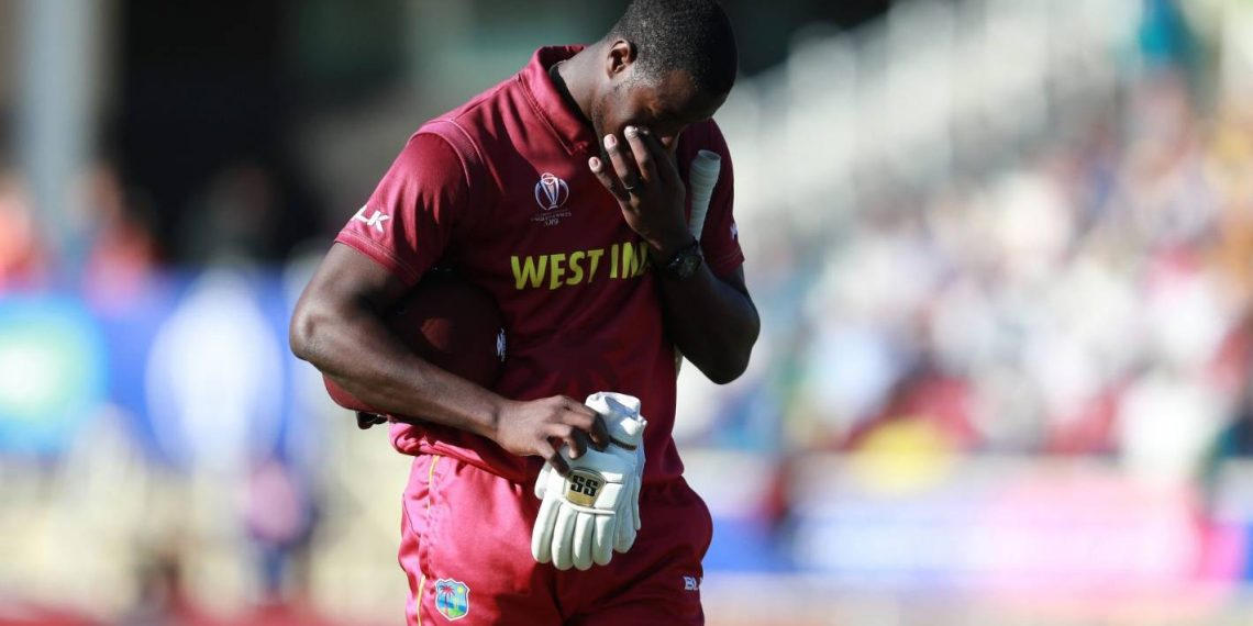 Brathwaite was found to have breached Article 2.8 of the ICC Code of Conduct for Players and Player Support Personnel, which relates to showing dissent to an umpire's decision.