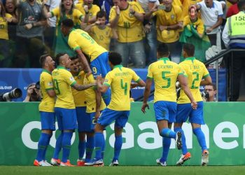 Goals from Casemiro, Roberto Firmino, Everton, Dani Alves and Willian ensured the Selecao would finish top of Group A.