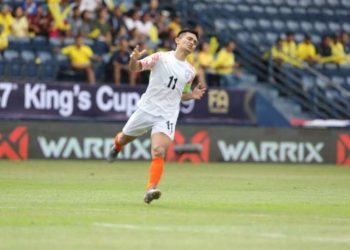 Chhetri became the most capped India player by surpassing Bhaichung Bhutia's 107 international matches and he scored the lone goal for his side in the 31st minute from a spot kick for his 69th goal.
