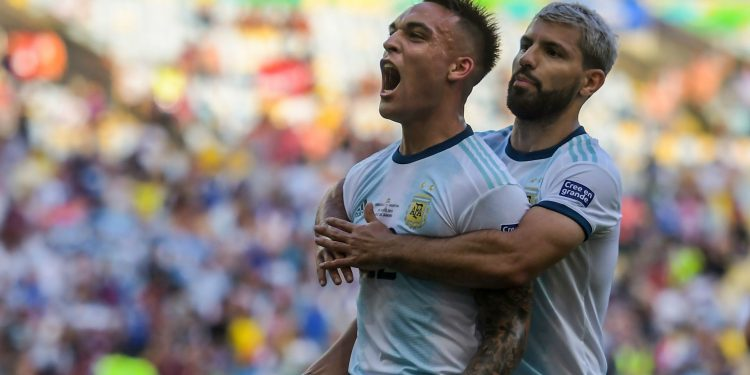 Fresh off a good debut season with Inter Milan, Martinez put Argentina ahead in the 10th minute.