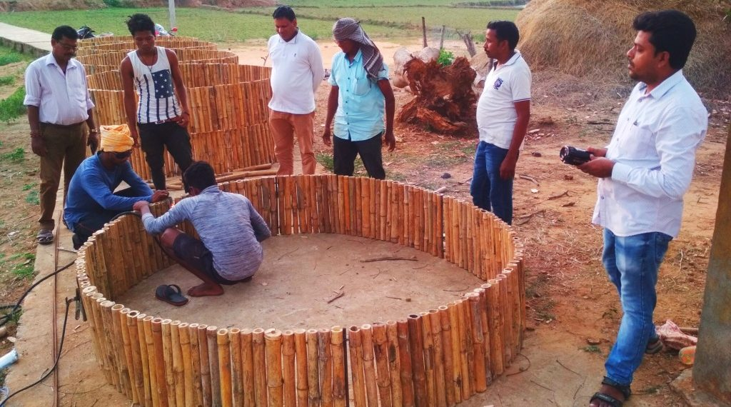 Bamboo rings replace costly concrete ones in wells here