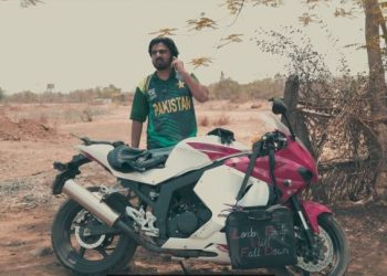 This one, shows a Pakistan supporter on a bike asking for petrol from his Indian counterpart to reach the airport.