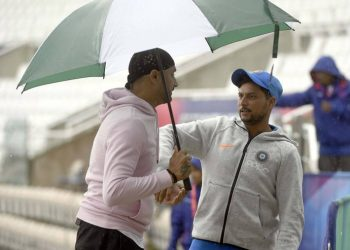 Rain had also forced India to cancel their optional practise on the eve of the game against South Africa at the Hampshire Bowl.