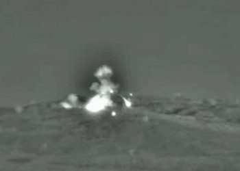 Image released by the IDF following the airstrike.