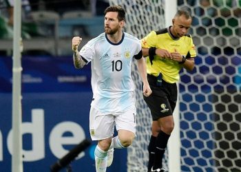 Messi swept in a 57th-minute spot-kick at Belo Horizonte's Mineirao Stadium to cancel out a first-half opener from Paraguay's Richard Sanchez.