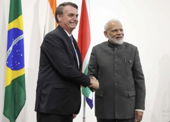This was Modi's first official engagement on the second day of the June 28-29 summit.