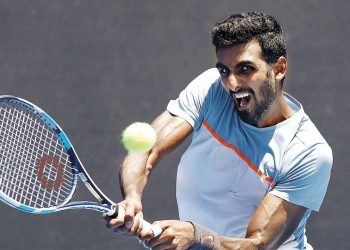Prajnesh Gunneswaran registered a straight set win