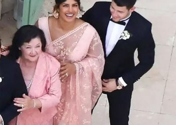 Apart from the newly-wed couple, it's Priyanka's look which has grabbed the attention of social media users.