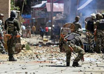 olice sources said unruly youths resorted to stone pelting at the security forces in Pulwama town. (representational image)