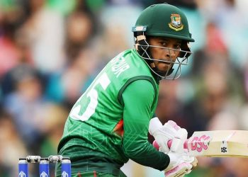 The incident happened in the 12th over when Mushfiqur dislodged the bails with his elbow while trying to run out New Zealand skipper Kane Williamson.