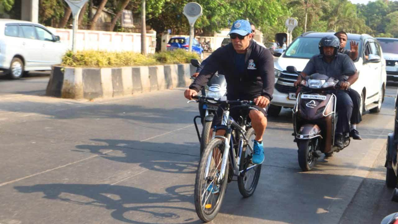 ab2dd1475 Fans troll Salman Khan for cycle ride sans helmet; see video ...