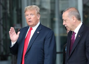 President Donald Trump with Recep Tayyip Erdogan