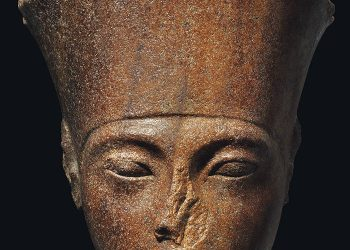 The 3,000-year-old bust was part of a statue of the God Amen -- the most revered deity of the Egyptian empire. It will global auction house Christie's sale.