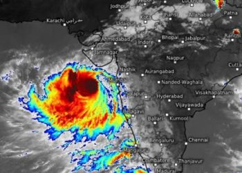 As was feared, the 'severe cyclonic storm' did not make landfall in Gujarat but was passing over the Saurashtra region.