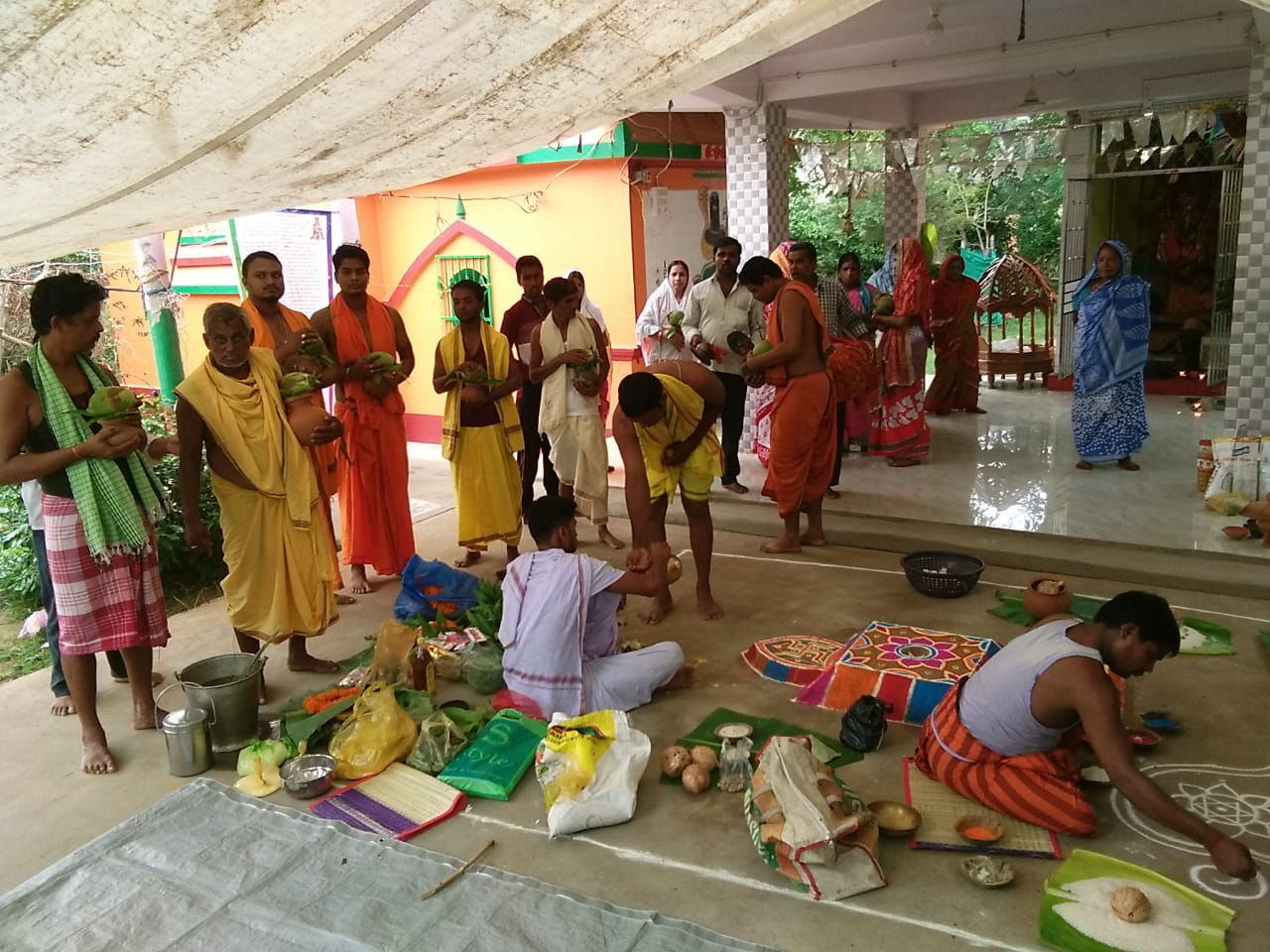 Villagers worship Lord Hanuman praying for relief from