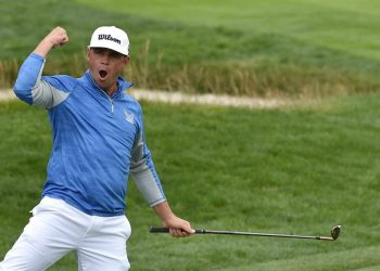 Woodland punctuated the victory with a birdie bomb at 18, a final flourish in a display of back-nine fortitude that saw him convert a 54-hole lead for the first time in eight career attempts.
