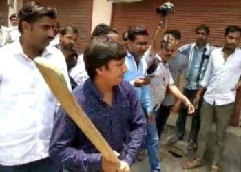 The BJP MLA spent four nights in jail for thrashing a municipal corporation official with a cricket bat for trying to evict occupants of a house declared dangerous for living.