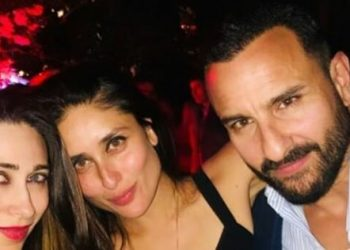Kareena, Karisma, Saif party in London