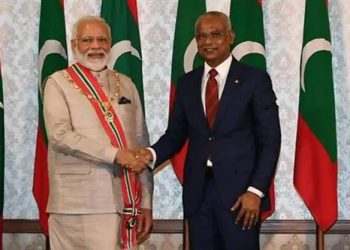 PM Modi with his Maldives counterpart.