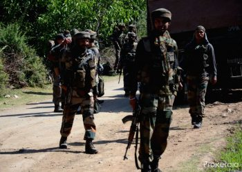 Search operation after gunfight in J&K