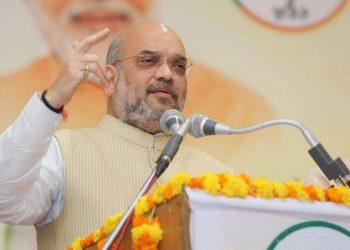 Amit Shah paid tributes to BJP founder Shyama Prasad Mookerjee Sunday