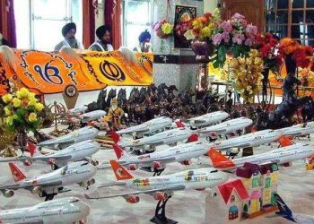 Gurudwara in Punjab where devotees offer toy airplanes to get visa for Western countries