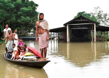 Gourav Gogoi of the Congress asked the Centre to declare floods in Assam a national disaster and said 15 persons have been killed and over 43 lakh displaced by the natural calamity.