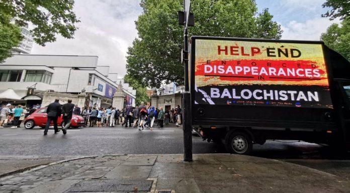 Pic: World Baloch Organisation/ Twitter