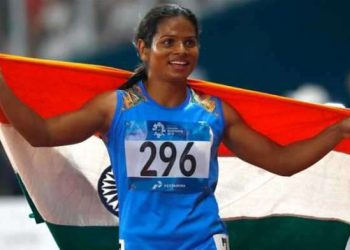The 23-year-old Dutee became the first Indian woman track and field athlete to clinch a gold medal in the World Universiade after she won the 100m dash event in Napoli, Italy July 9.