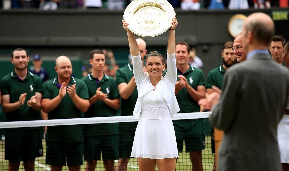 Simona Halep after winning the Wimbledon women's singles title Saturday