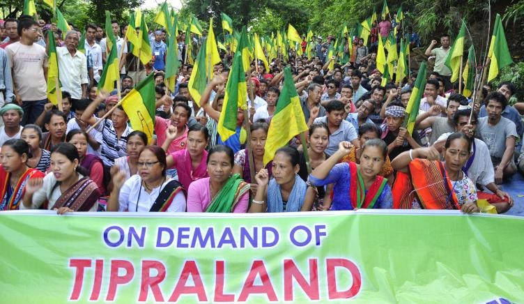 The IPFT, a tribal-based local party, has been agitating since 2009 for a separate state to be carved out by upgrading the Tripura Tribal Areas Autonomous District Council (TTAADC).
