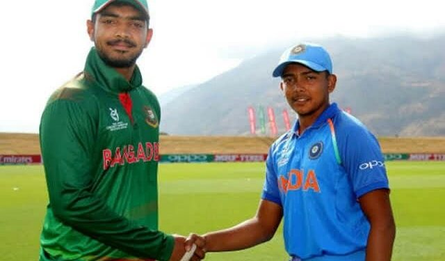 Bangladesh U-19 won the rain-curtailed match under the Duckworth/Lewis method Tuesday.
