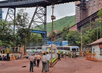 Villagers's stir in front of Tata Steel facility