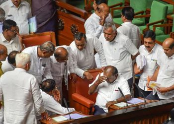 As decided by the House Business Advisory Committee Monday and scheduled, Speaker K.R. Ramesh Kumar directed the Chief Minister to move the motion for debate and floor test later.