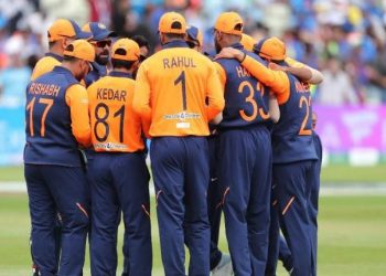 The Indian team had sported a new 'away jersey' -- which has splattering of orange on the shoulders and the back -- in their Sunday encounter against England which they lost by 31 runs.