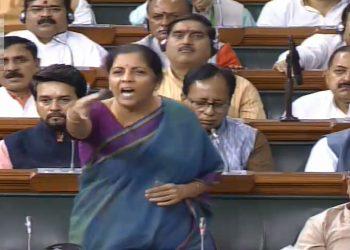 Nirmala Sitharaman speaks inside the Lok Sabha over Azam Khan's remark, Friday