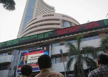 Sensex falls over 100 points ahead of GDP data