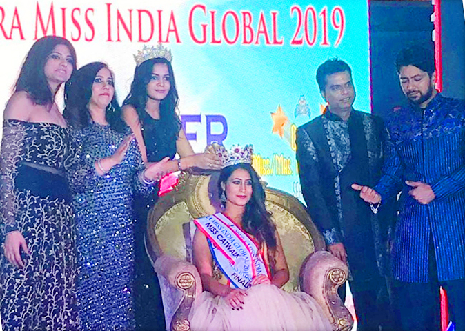 Shefali Udgata won the Opera Miss India Global-2019 crown