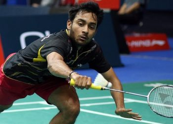 The world no. 43 Sourabh lost 9-21, 18-21 against the Thai shuttler in a contest that lasted just 39 minutes.
