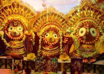 Suna Besha (gold attire) ritual of Lord Jagannath, Lord Balabhadra and Devi Subhadra