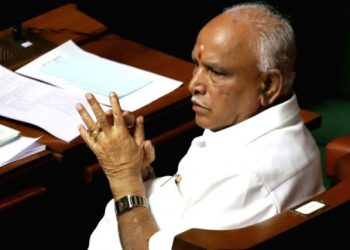 Facing an Assembly with a truncated strength, Yediyurappa moved a one-line motion that said the House expresses confidence in the Ministry headed by him.