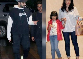 The couple was recently snapped in Mumbai on a night out with their daughter Aaradhya and the photos have gone viral.