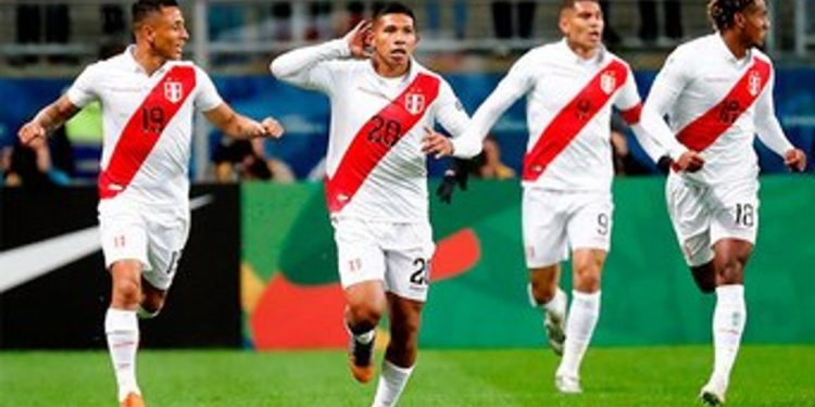Goals from Edison Flores, Yoshimar Yotun and Paolo Guerrero handed Peru a deserved win which sends them into a final against Brazil at the Maracana Stadium, Sunday.