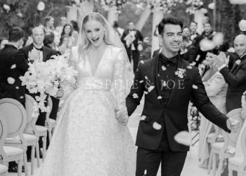 Mr and Mrs Jonas: Joe shares first wedding picture