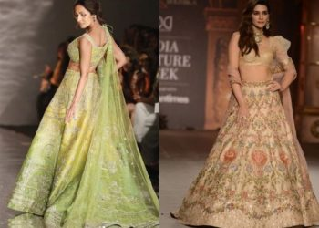 Malaika turned showstopper for ace designer Sulakshana Monga whereas Kriti closed the show for designer duo Shyamal and Bhumika for their annual couture collection showcase.