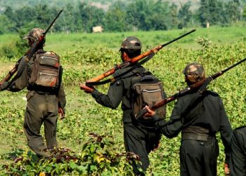The gun battle broke out in a forest near Gumiyapal village, located around 400 km from Raipur, when a District Reserve Guard team was out on an anti-Naxal operation.