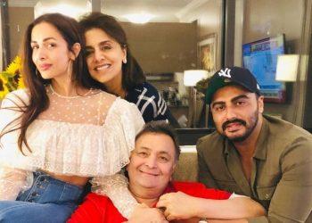 Rishi, Neetu spend 'fun evening' with Arjun, Malaika