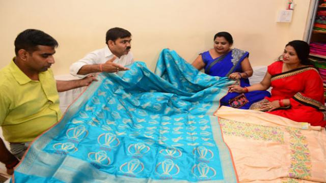 The weavers are making 16 special silk sarees that would be presented to the wives or mothers of the team members.