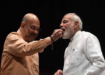 PM Narendra and Home Minister Amit Shah. File pic