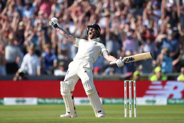 Ben Stokes celebrates after win at Headingley Sunday
